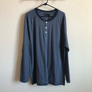 NWT Men's Striped Henley